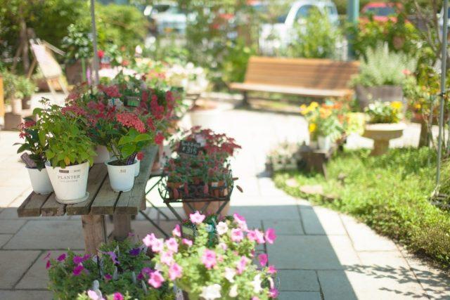 花のある庭