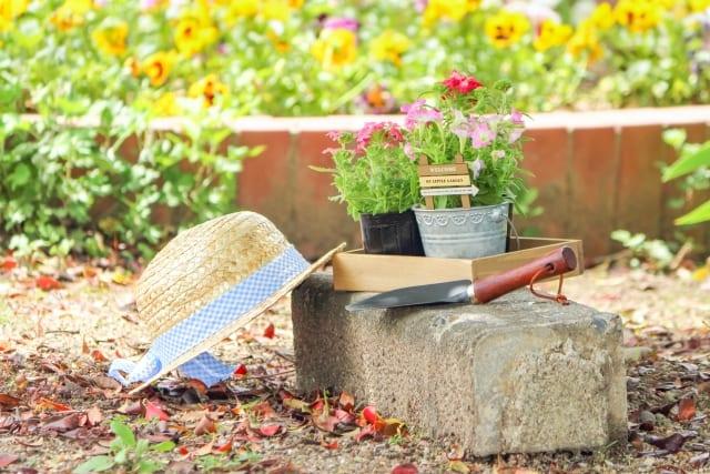 庭と花壇ブロック