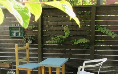 ガーデンの目隠しフェンス