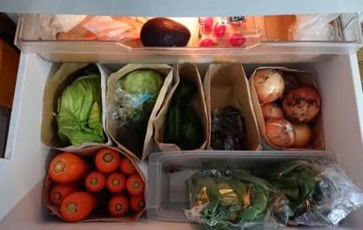 菊芋をすぐ食べる場合は、冷蔵庫に保存