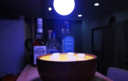 水耕栽培器にライトをセット