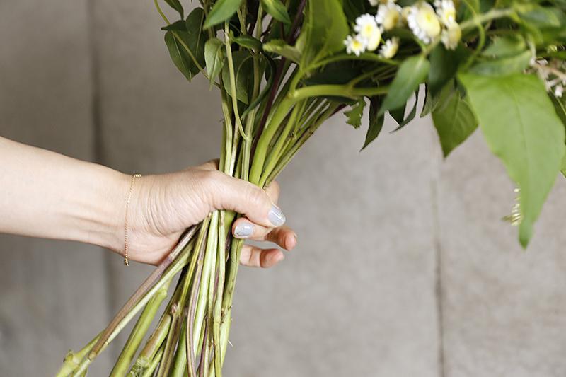 花束のまとめ方イメージ