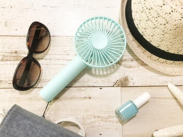 夏の必須アイテム携帯扇風機