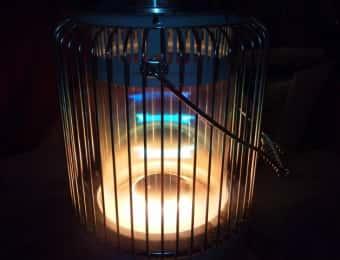 ストーブの炎