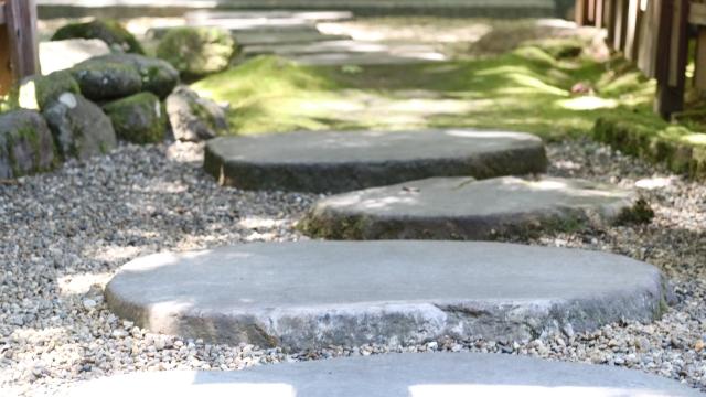 和風の庭 飛び石