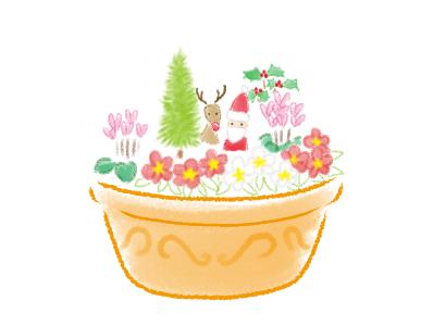 クリスマス、寄せ植え