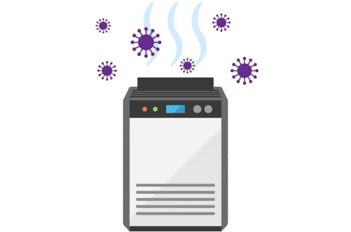 加湿空気清浄機のイラスト