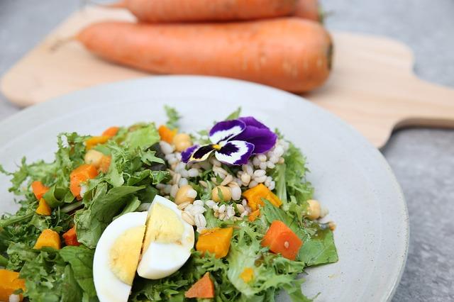 オーガニック 野菜のサラダ