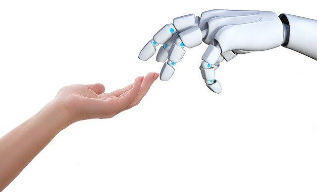 ロボットと人の手