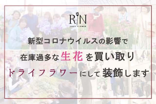 株式会社RINの生花をドライフラワーで装飾する活動