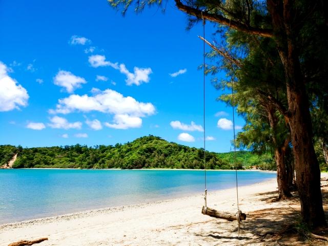浜辺のブランコ