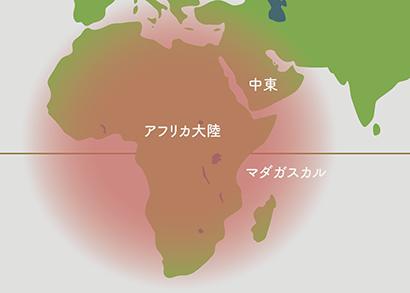 ユーフォルビア原産地 地図