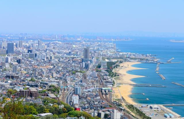高台から見た神戸市内