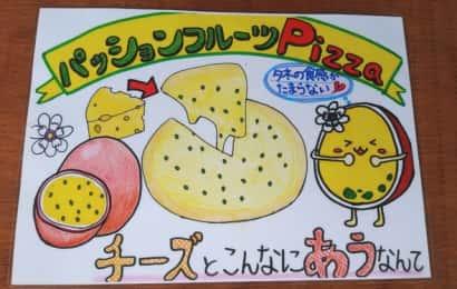 パッションフルーツのピザレシピのイラスト