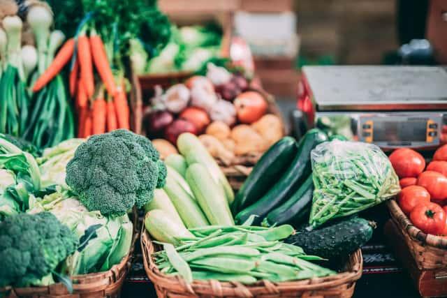 かごに盛られた野菜
