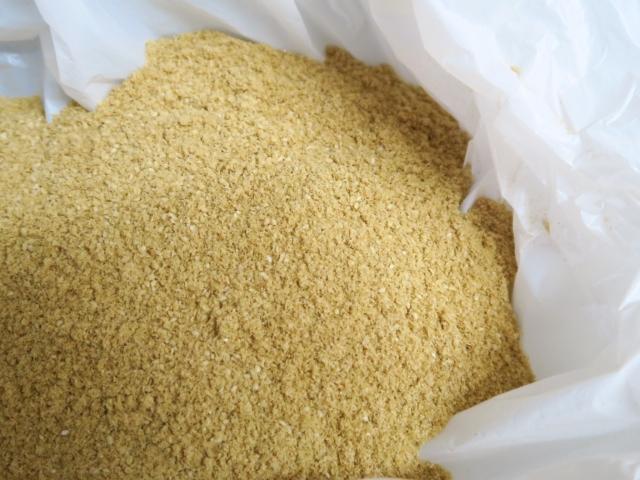 袋の中のぼかし肥料
