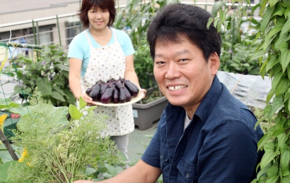 安藤康夫さんの家庭菜園