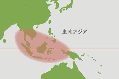アグラオネマ原産地地図